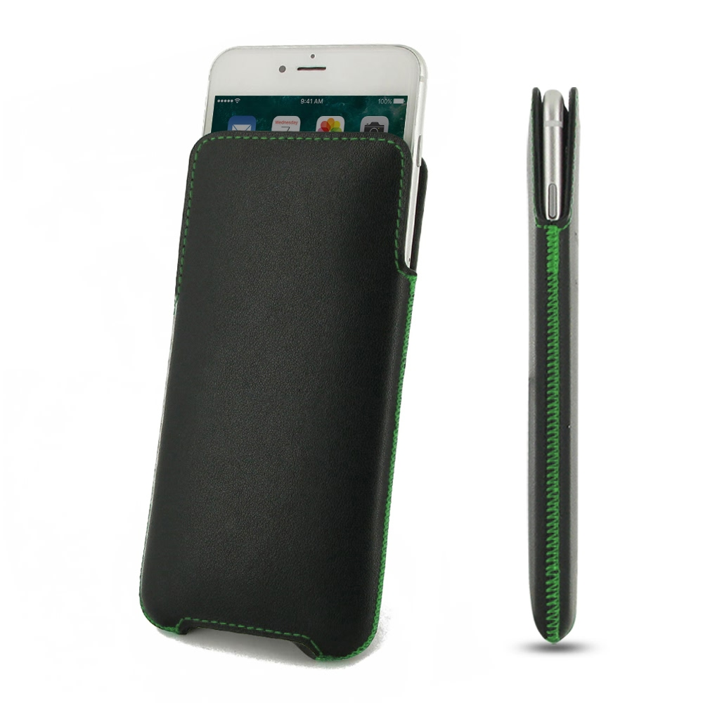 Leather Pocket for Apple iPhone 8 Plus (Green Stitch)