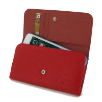 Leather Wallet Case for Apple iPhone 8 Plus (Red Pebble Leather)