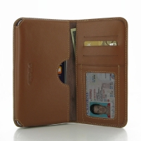 Leather Card Wallet for Apple iPhone 8 Plus (Brown)