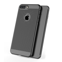 Ultra Slim Shockproof Premium Matte Finish Mesh Hard Case for Apple iPhone 8 Plus (Black)