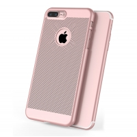 Ultra Slim Shockproof Premium Matte Finish Mesh Hard Case for Apple iPhone 8 Plus (Rose Gold)