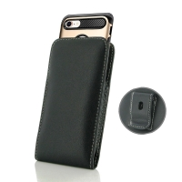 Leather Vertical Pouch Belt Clip Case for Apple iPhone 8 (in Large Size Armor Protective Case Cover)