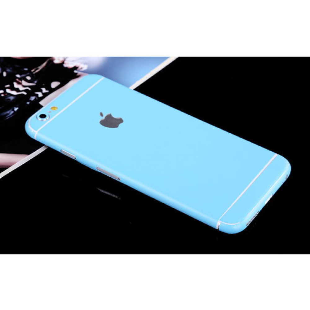 10% OFF + FREE SHIPPING, Buy PDair Top Quality iPhone Decal Wrap Skin Set Baby Blue which is available for iPhone 5 | iPhone 5s, iPhone 6 | iPhone 6s, iPhone 6 Plus | iPhone 6s Plus, iPhone SE You also can go to the customizer to create your own stylish l