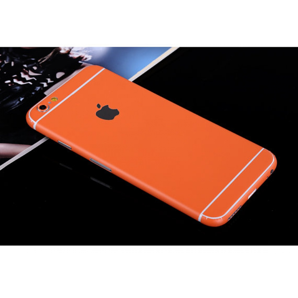 10% OFF + FREE SHIPPING, Buy PDair Top Quality iPhone Decal Wrap Skin Set (Orange) which is available for iPhone 5 | iPhone 5s, iPhone 6 | iPhone 6s, iPhone 6 Plus | iPhone 6s Plus, iPhone SE. You also can go to the customizer to create your own stylish l