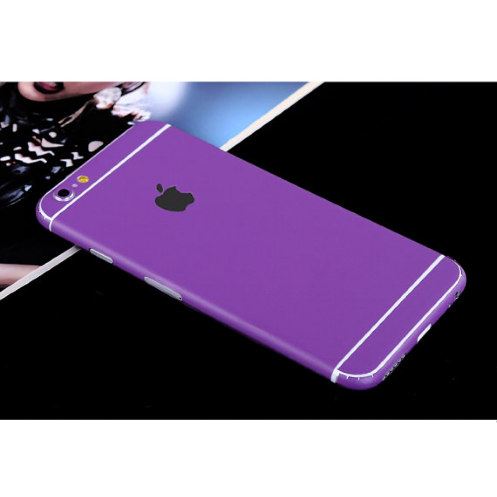 10% OFF + FREE SHIPPING, Buy PDair Top Quality iPhone Decal Wrap Skin Set (Purple) which is available for iPhone 5 | iPhone 5s, iPhone 6 | iPhone 6s, iPhone 6 Plus | iPhone 6s Plus, iPhone SE. You also can go to the customizer to create your own stylish l