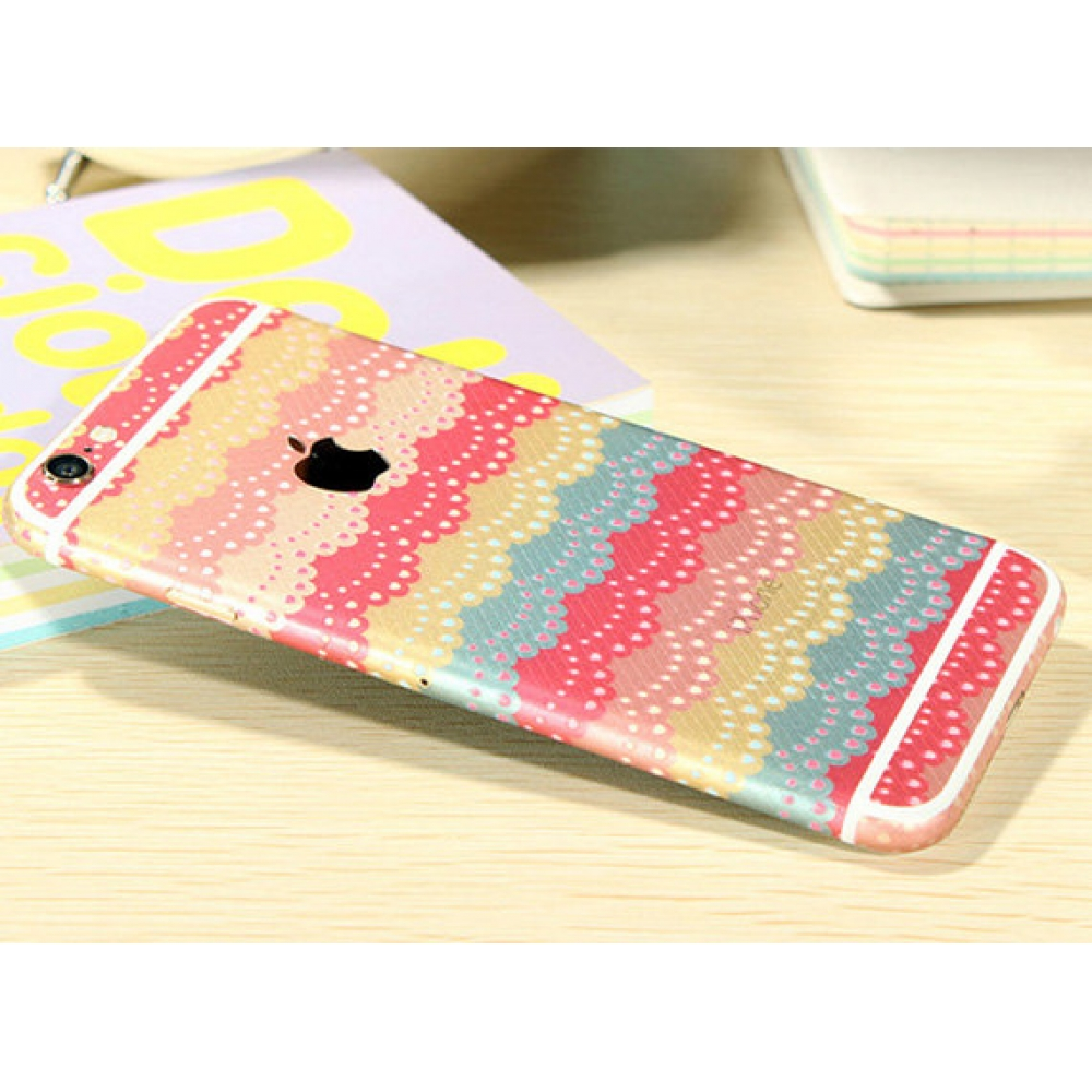 10% OFF + FREE SHIPPING, Buy PDair iPhone Decal Wrap Skin Set Rainbow Lace Pattern which is available for iPhone 5 | iPhone 5s, iPhone 6 | iPhone 6s, iPhone 6 Plus | iPhone 6s Plus, iPhone SE. You also can go to the customizer to create your own stylish l