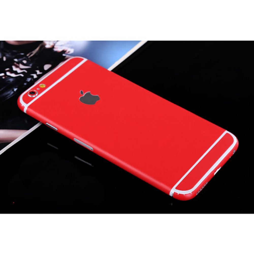 10% OFF + FREE SHIPPING, Buy PDair Top Quality iPhone Decal Wrap Skin Set (Red) which is available for iPhone 5 | iPhone 5s, iPhone 6 | iPhone 6s, iPhone 6 Plus | iPhone 6s Plus, iPhone SE. You also can go to the customizer to create your own stylish leat