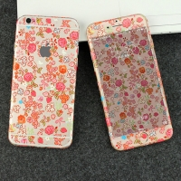 iPhone 6s 6 Plus Decal Wrap Skin Set (Rose Strawberry Flowers Pattern)