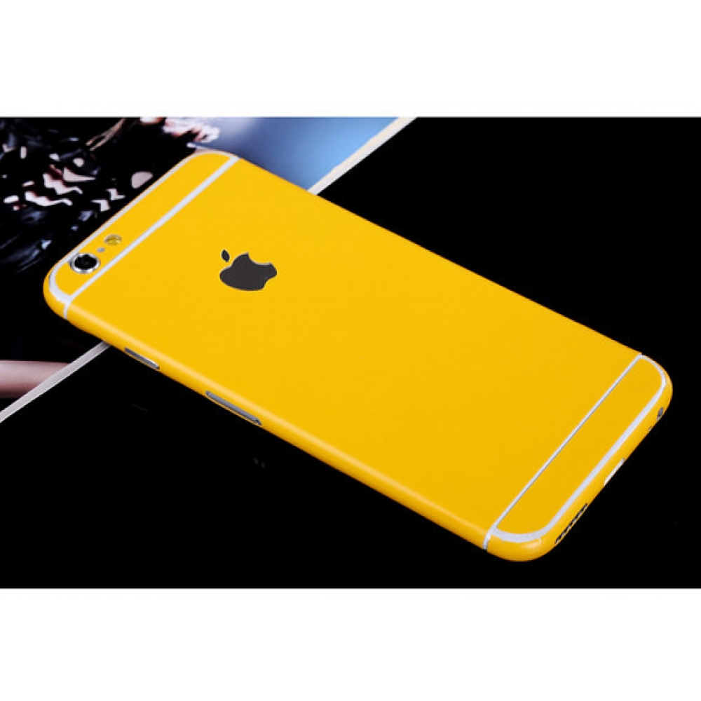 10% OFF + FREE SHIPPING, Buy PDair Top Quality iPhone Decal Wrap Skin Set (Yellow) which is available for iPhone 5 | iPhone 5s, iPhone 6 | iPhone 6s, iPhone 6 Plus | iPhone 6s Plus, iPhone SE. You also can go to the customizer to create your own stylish l