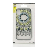 Beautiful Flower Pattern Diamond Sparkle Protective Case for Apple iPhone X | iPhone 10 (Mandala)