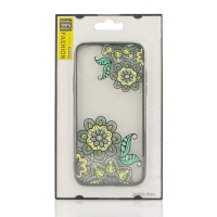 Beautiful Flower Pattern Diamond Sparkle Protective Case for Apple iPhone X | iPhone 10 (Yellow Lotus)