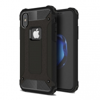 Hybrid Dual Layer Tough Armor Protective Case for Apple iPhone X | iPhone 10 (Black)