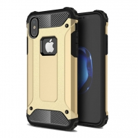 Hybrid Dual Layer Tough Armor Protective Case for Apple iPhone X | iPhone 10 (Gold)