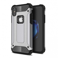 Hybrid Dual Layer Tough Armor Protective Case for Apple iPhone X | iPhone 10 (Grey)