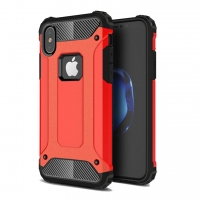 Hybrid Dual Layer Tough Armor Protective Case for Apple iPhone X | iPhone 10 (Red)
