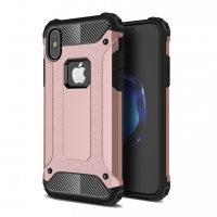 Hybrid Dual Layer Tough Armor Protective Case for Apple iPhone X | iPhone 10 (Rose Gold)