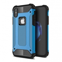 Hybrid Dual Layer Tough Armor Protective Case for Apple iPhone X | iPhone 10 (Skyblue)