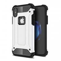 Hybrid Dual Layer Tough Armor Protective Case for Apple iPhone X | iPhone 10 (White)