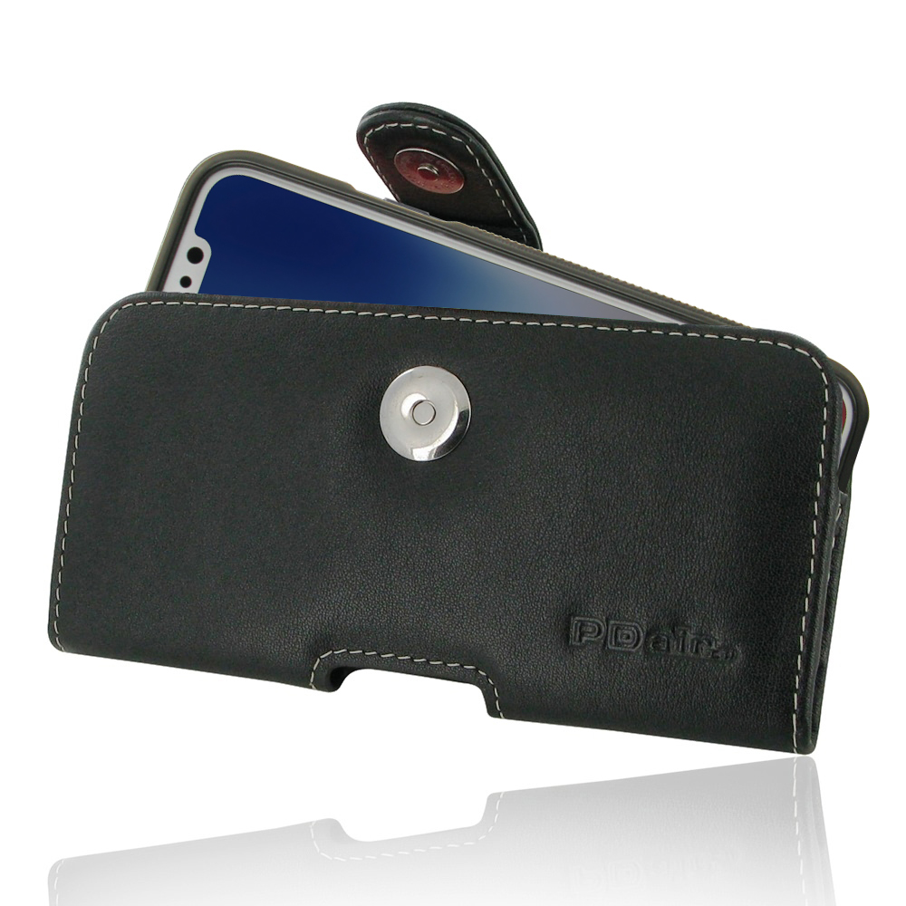 Leather Horizontal Pouch Case with Belt Clip for Apple iPhone X | iPhone 10 (in Slim Case/Cover)