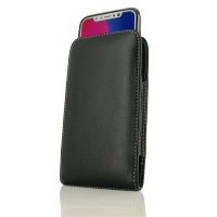 Leather Vertical Pouch Case for Apple iPhone X | iPhone 10 ( Compatible with 1.0 mm Slim Case / Cover on )