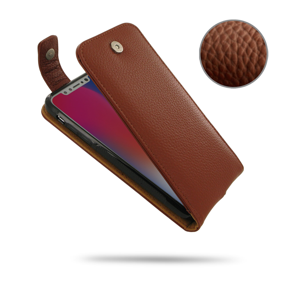 10% OFF + FREE SHIPPING, Buy Best PDair Handmade Protective iPhone X | iPhone 10 Leather Flip Top Wallet Case (Brown Pebble Leather). You also can go to the customizer to create your own stylish leather case if looking for additional colors, patterns and