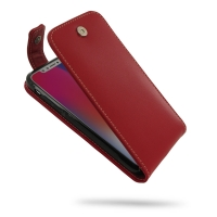 Leather Flip Top Wallet Case for Apple iPhone X | iPhone 10 (Red)