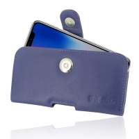 Leather Horizontal Pouch Case with Belt Clip for Apple iPhone X | iPhone 10 (Purple)