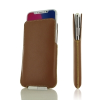 Leather Pocket for  Apple iPhone X | iPhone 10 (Brown)