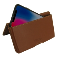 Leather Wallet Pouch for Apple iPhone X | iPhone 10 (Brown)