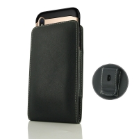 Leather Vertical Pouch Belt Clip Case for Apple iPhone X | iPhone 10 (in Large Size Armor Protective Case Cover)