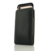 Leather Vertical Pouch Case for Apple iPhone X | iPhone 10 (in Large Size Armor Protective Case Cover)