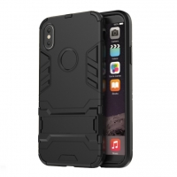 Apple iPhone X | iPhone 10 Tough Armor Protective Case (Black)