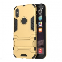Apple iPhone X | iPhone 10 Tough Armor Protective Case (Gold)