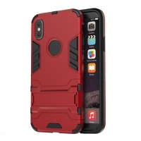Apple iPhone X | iPhone 10 Tough Armor Protective Case (Red)