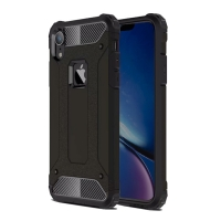 Hybrid Dual Layer Tough Armor Protective Case for Apple iPhone XR (Black)