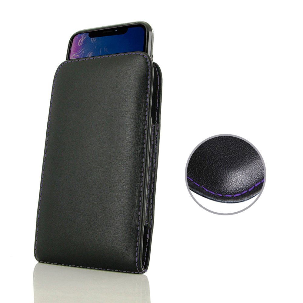 10% OFF + FREE SHIPPING, Buy the BEST PDair Handcrafted Premium Protective Carrying iPhone XR (in Slim Cover) Pouch Case (Purple Stitch). Exquisitely designed engineered for iPhone XR.