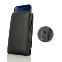 Leather Vertical Pouch Belt Clip Case for Apple iPhone XR ( Compatible with 1.0 mm Slim Case / Cover on )