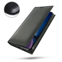 10% OFF + FREE SHIPPING, Buy the BEST PDair Handcrafted Premium Protective Carrying iPhone XR Leather Folio Flip Wallet Case (Black Stitch). Exquisitely designed engineered for iPhone XR.