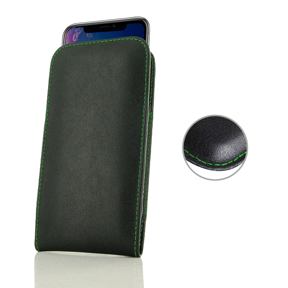 10% OFF + FREE SHIPPING, Buy the BEST PDair Handcrafted Premium Protective Carrying iPhone XR Leather Sleeve Pouch Case (Green Stitch). Exquisitely designed engineered for iPhone XR.