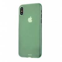 0.3mm Ultra thin Plastic Back Case Cover for Apple iPhone XS(Green)