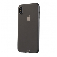 0.3mm Ultra thin Plastic Back Case Cover for Apple iPhone XS(Grey)