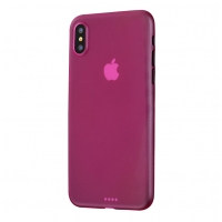 0.3mm Ultra thin Plastic Back Case Cover for Apple iPhone XS(Hot pink)