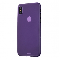 0.3mm Ultra thin Plastic Back Case Cover for Apple iPhone XS(Purple)