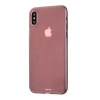 0.3mm Ultra thin Plastic Back Case Cover for Apple iPhone XS(Rose Gold)