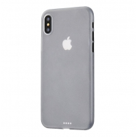 0.3mm Ultra thin Plastic Back Case Cover for Apple iPhone XS(White)