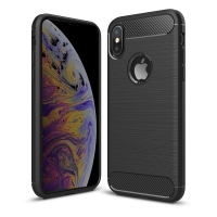 Carbon Fiber Case for Apple iPhone XS(Black)