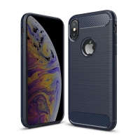 Carbon Fiber Case for Apple iPhone XS(Deep blue)