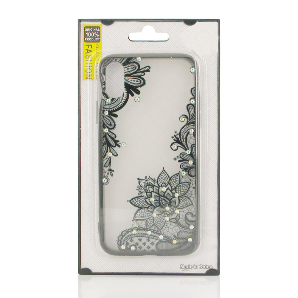 10% OFF + FREE SHIPPING, Buy the BEST PDair Premium Protective Carrying Beautiful Flower Pattern Diamond Sparkle Protective Case for iPhone XS (Black Lotus). Exquisitely designed engineered for iPhone XS.