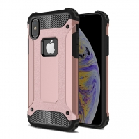 Hybrid Dual Layer Tough Armor Protective Case for Apple iPhone XS (Rose Gold)