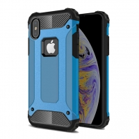 Hybrid Dual Layer Tough Armor Protective Case for Apple iPhone XS (Skyblue)